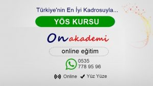 YÖS Kursu Akşehir